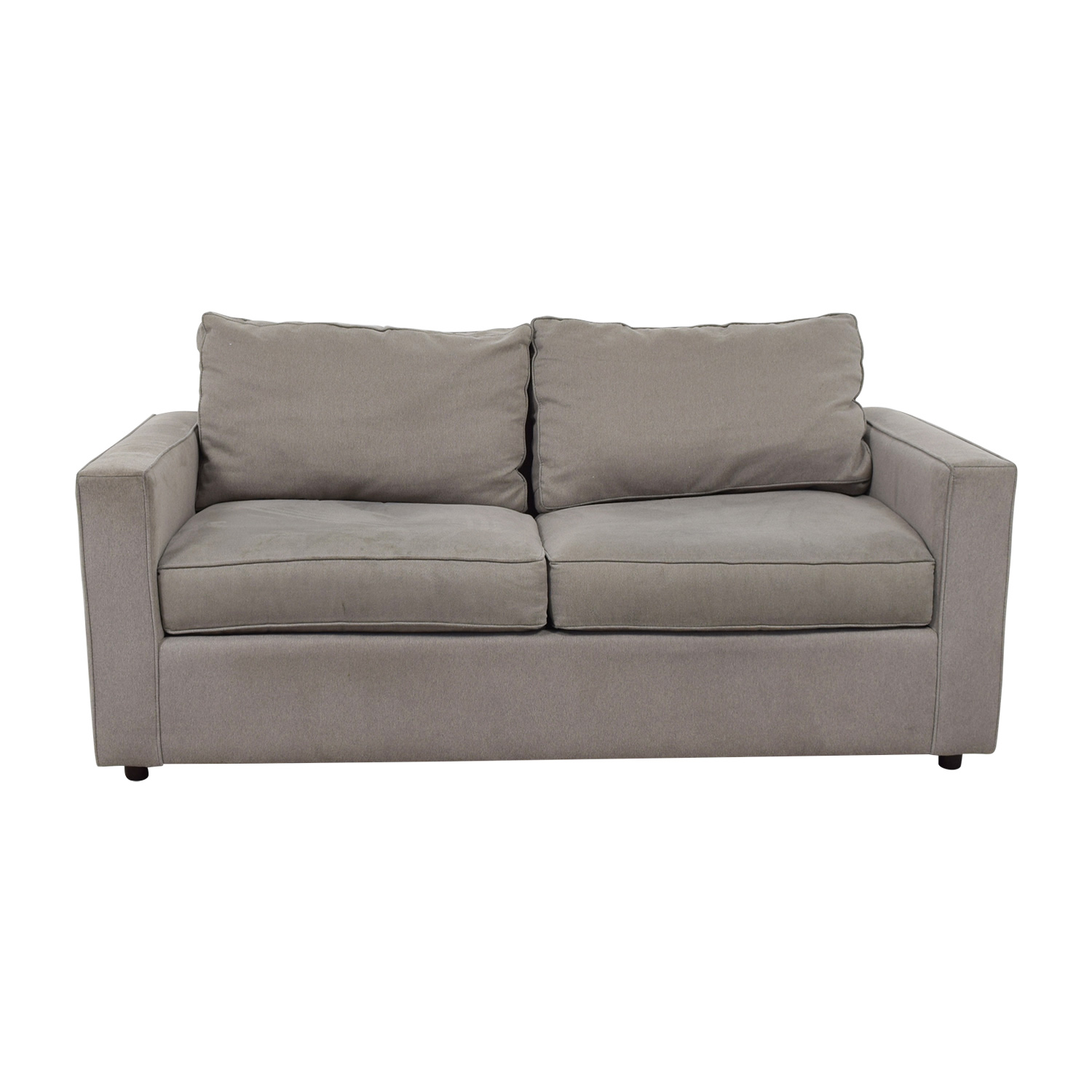 Room & Board Room & Board York Grey Two-Cushion Sofa on sale