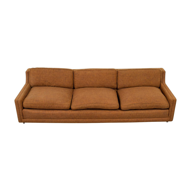 buy Brown Three-Cushion Sofa