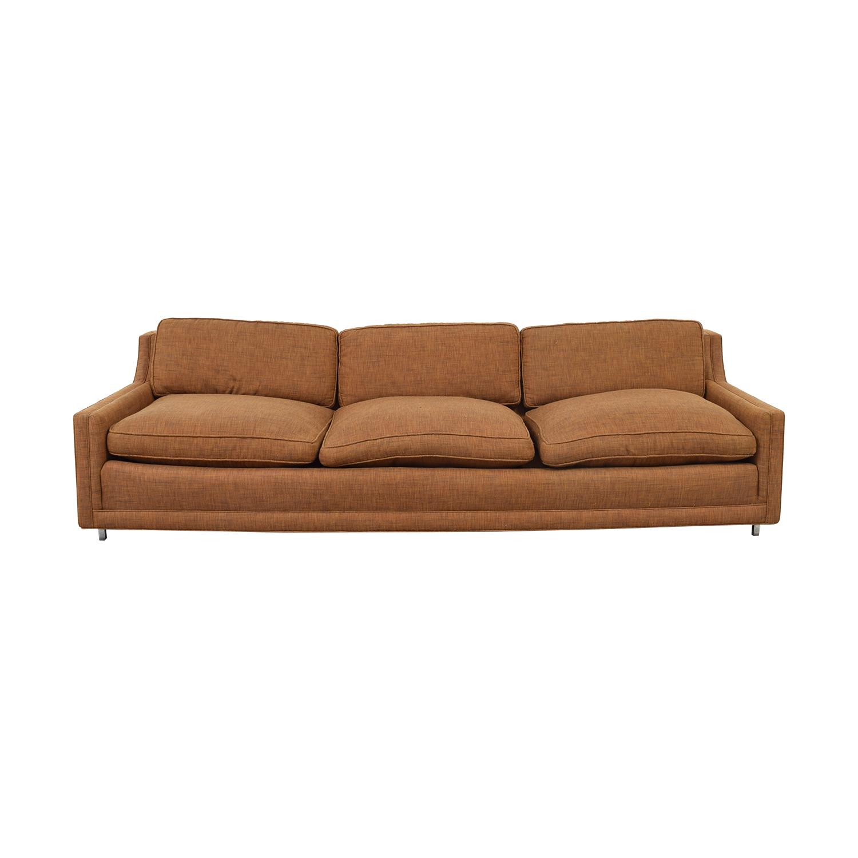 buy  Brown Three-Cushion Sofa online