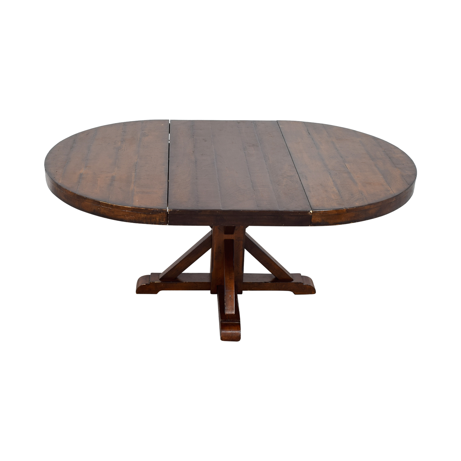 buy Pottery Barn Benchwright Extending Round Pedestal Dining Table Pottery Barn Tables