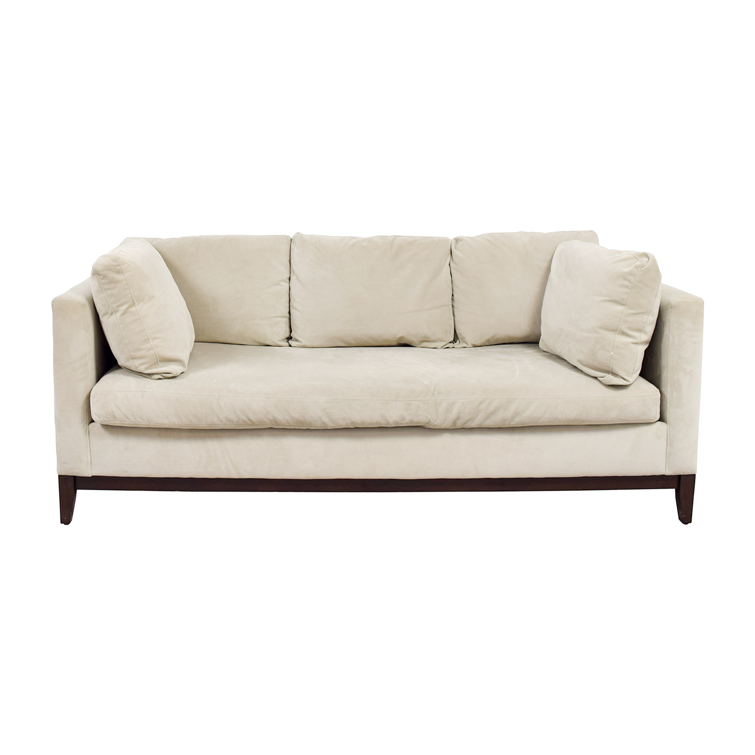 Charmant West Elm West Elm Blake Stone Velvet Single Cushion Sofa Nyc ...