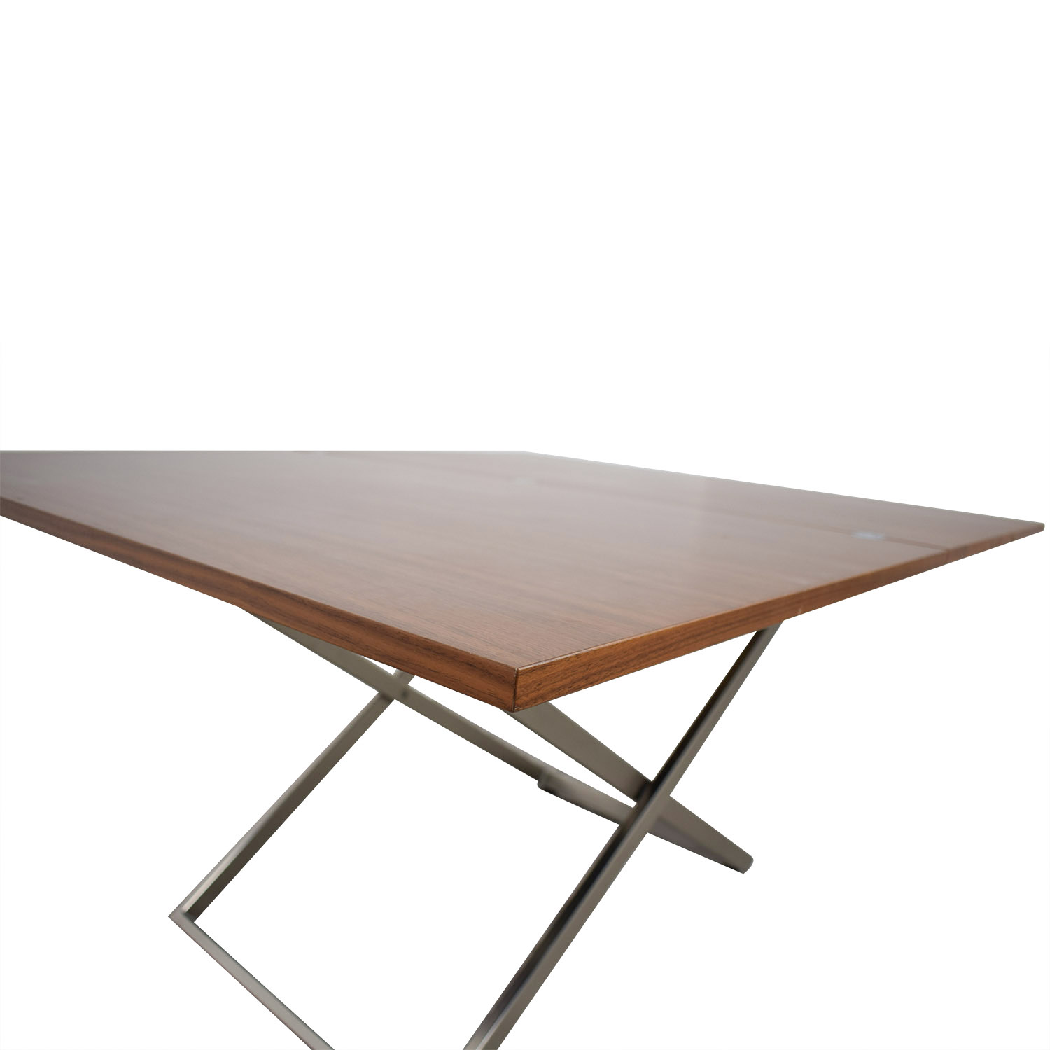 Bo Concept Bo Concept Rubi Adjustable Table from Coffee to Dining BROWN/SILVER BASE
