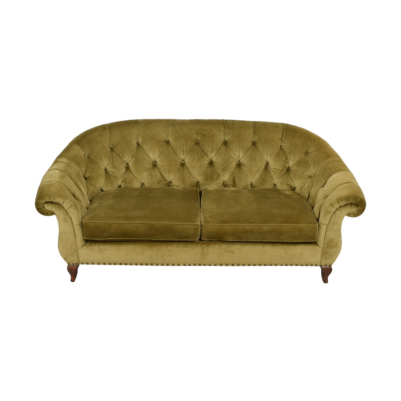 Ralph Lauren Ralph Lauren Tan Tufted Couch price