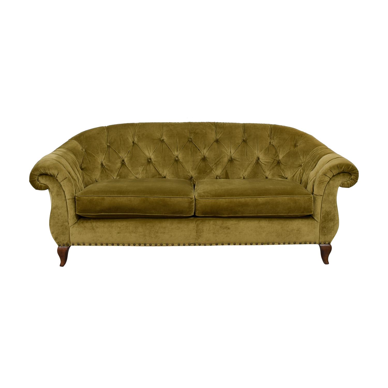 Ralph Lauren Tan Tufted Couch Online