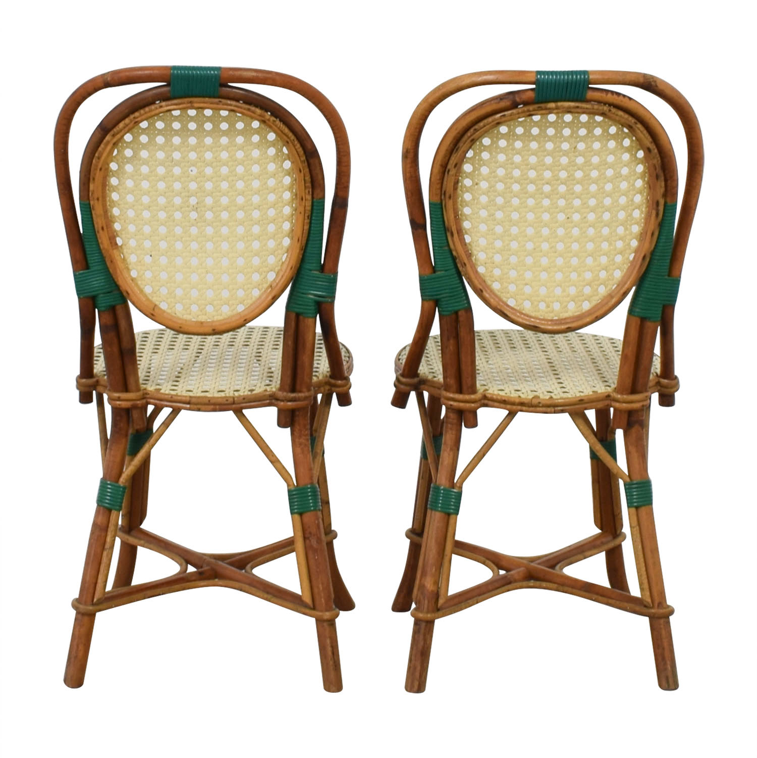 Genuine Vintage Cane French Bistro Chairs on sale