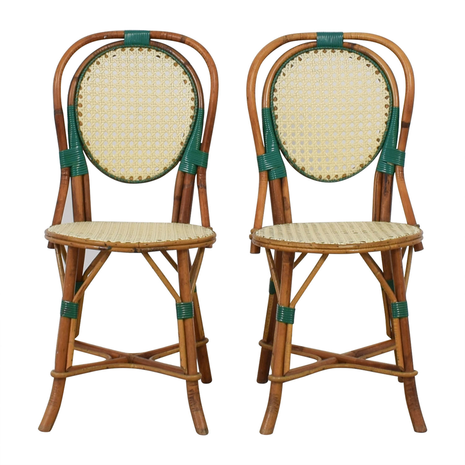 Genuine Vintage Cane French Bistro Chairs second hand