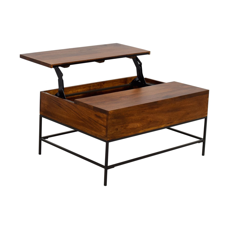 44 off west elm west elm industrial storage coffee. Black Bedroom Furniture Sets. Home Design Ideas