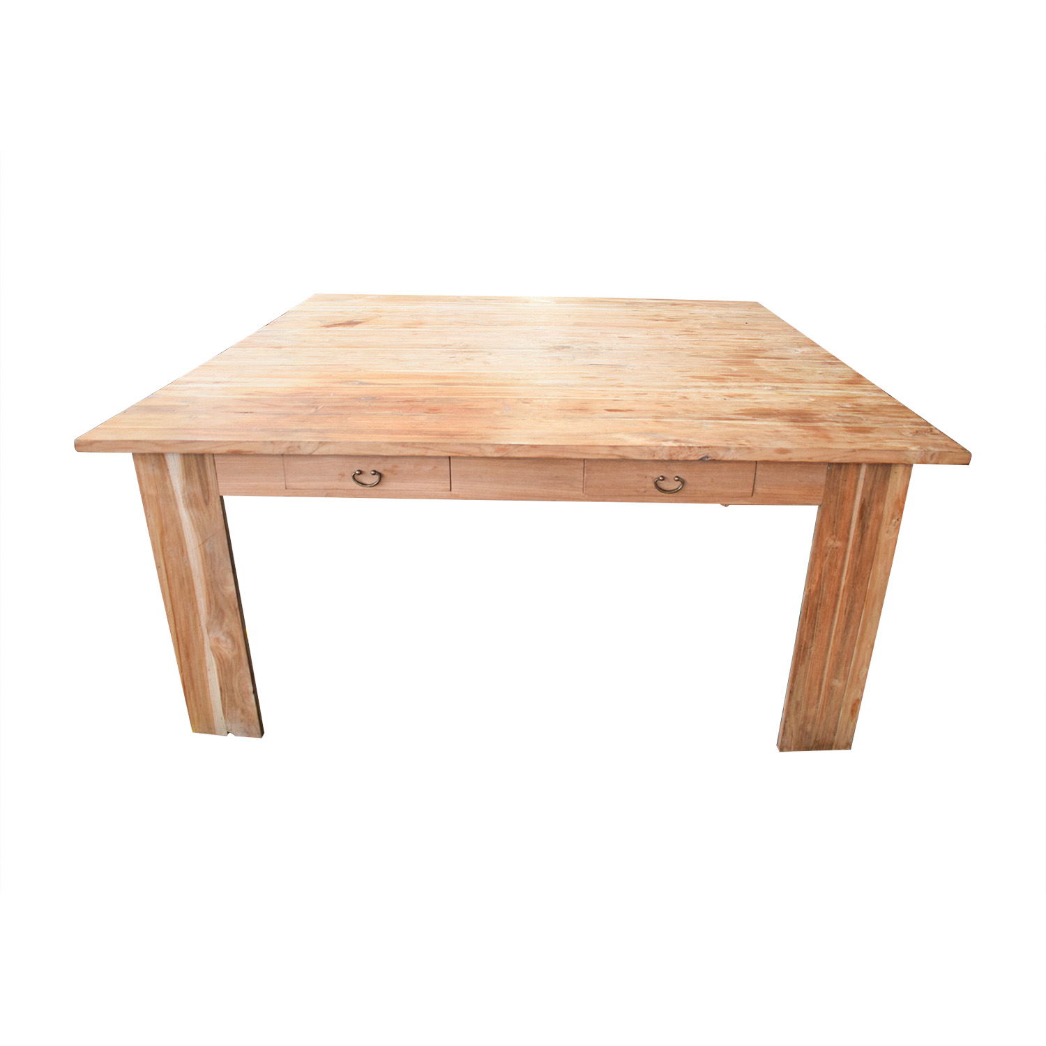 buy Rustic Wood Square Dining Table