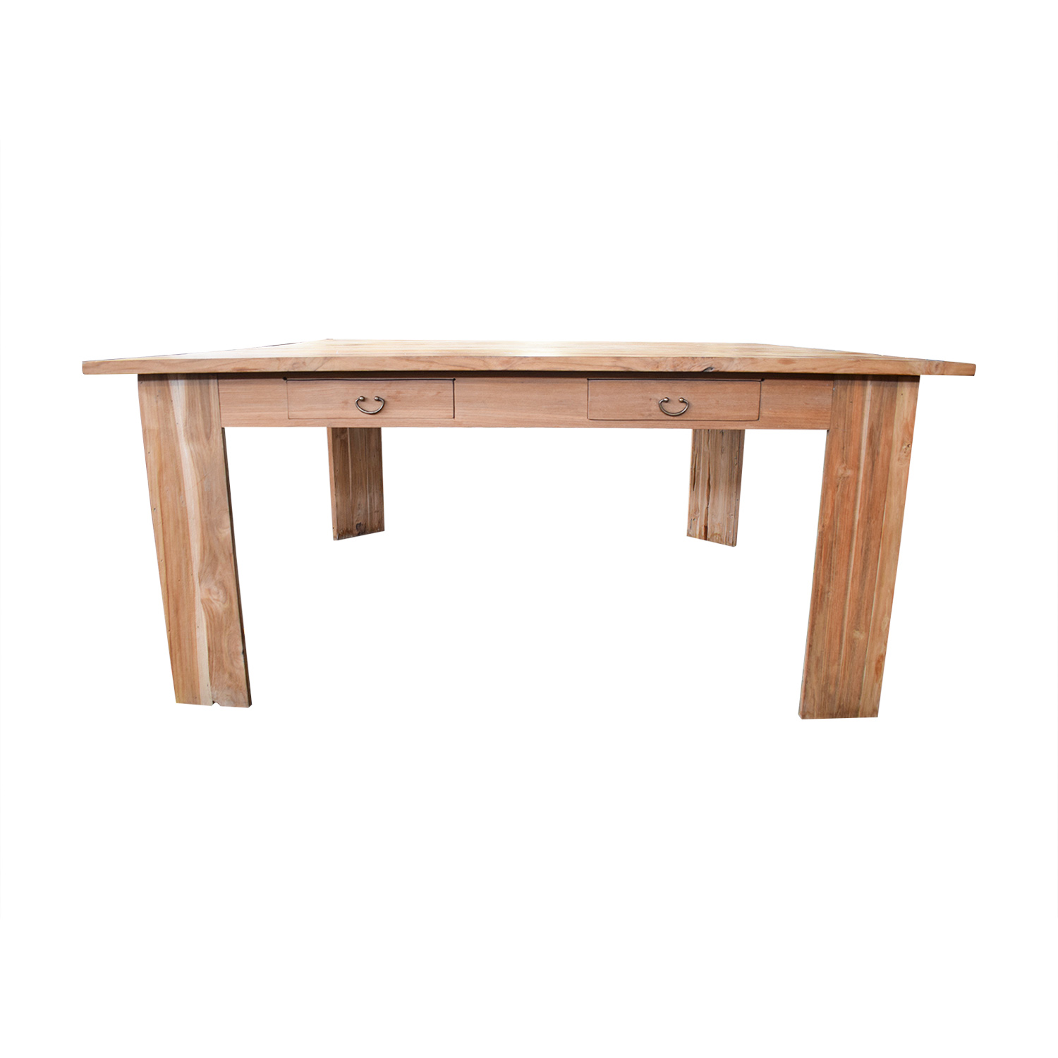 Rustic Wood Square Dining Table for sale