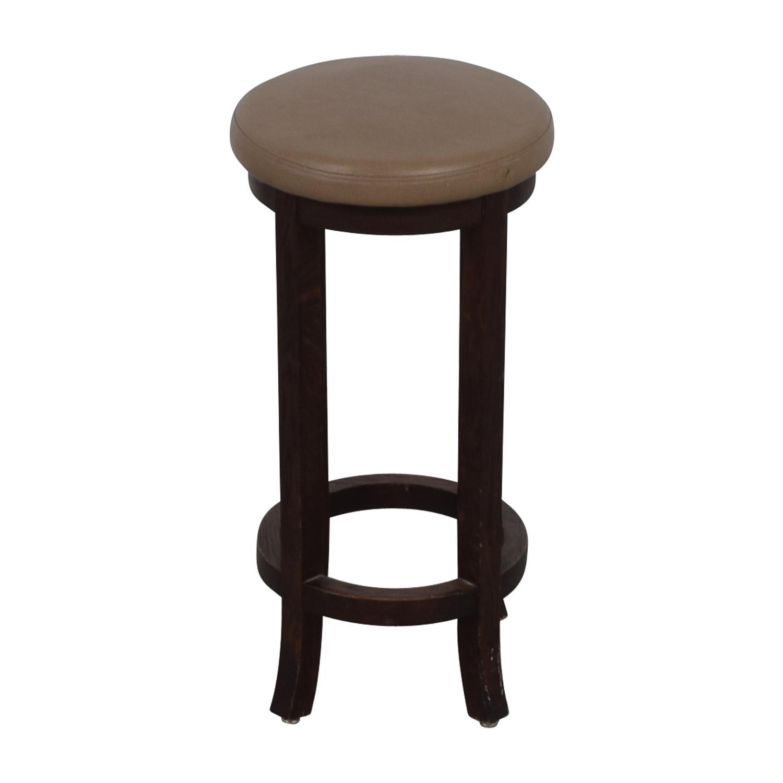 Round Leatherette Barstool used