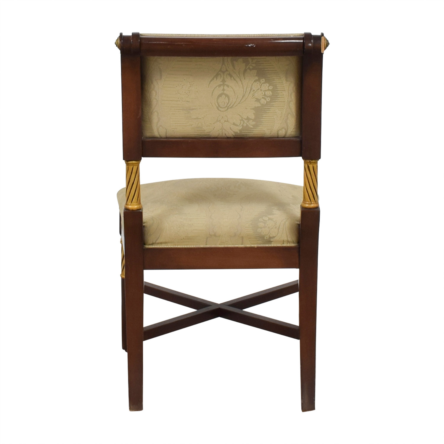 Beige Satin Covered French Chair Accent Chairs