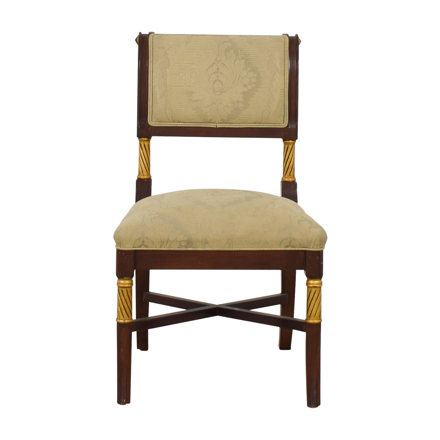 buy  Beige Satin Covered French Chair online