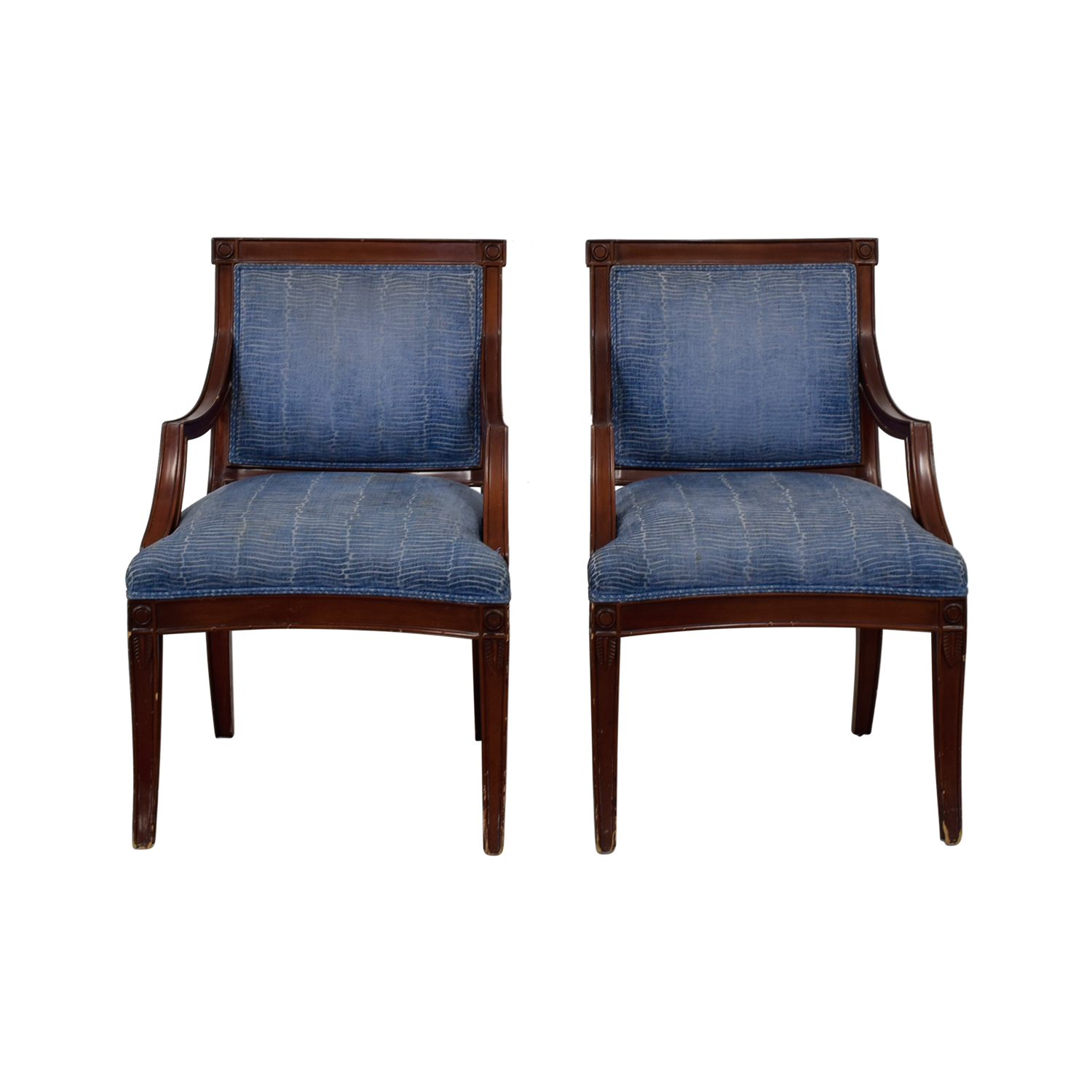 Blue & White Arm Chairs on sale