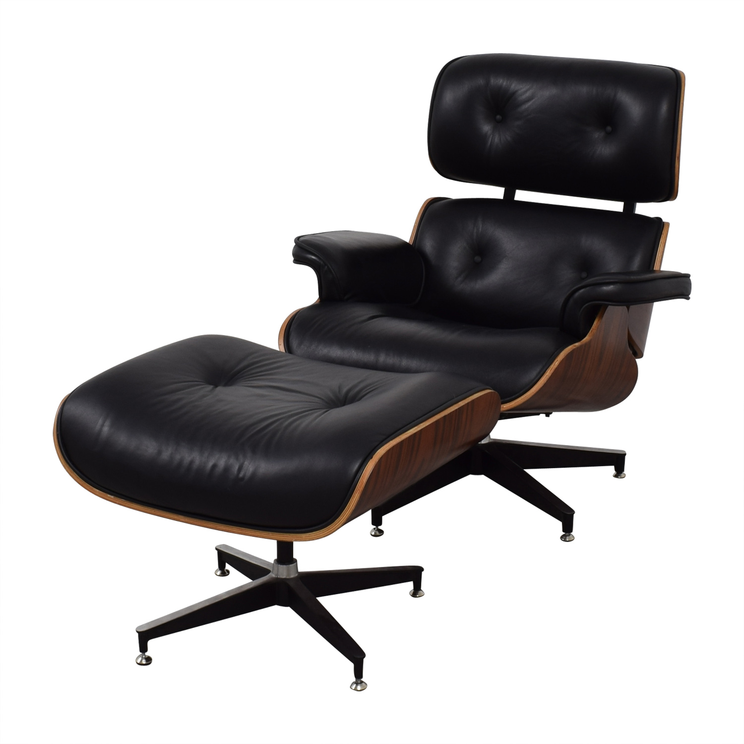 49% OFF - Manhattan Home Design Manhattan Home Design Eames Replica Chair  and Ottoman / Chairs