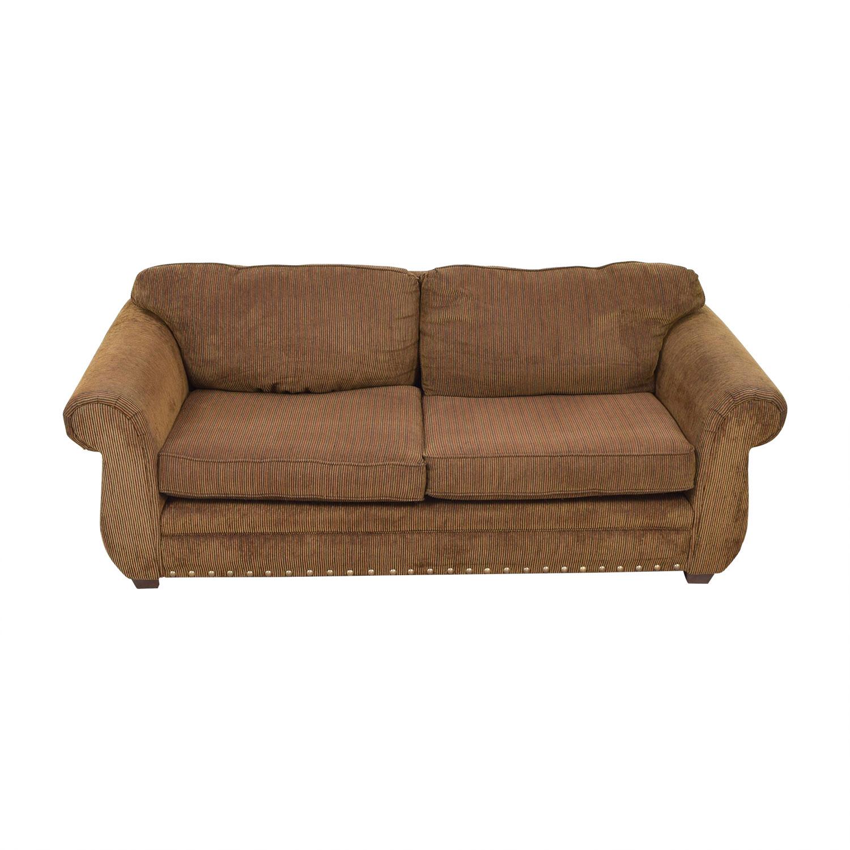 ABC Carpet & Home Brown Two-Cushion Sofa sale