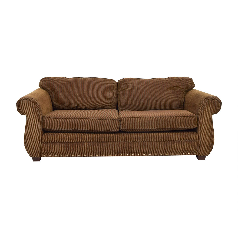 ABC Carpet & Home ABC Carpet & Home Brown Two-Cushion Sofa used