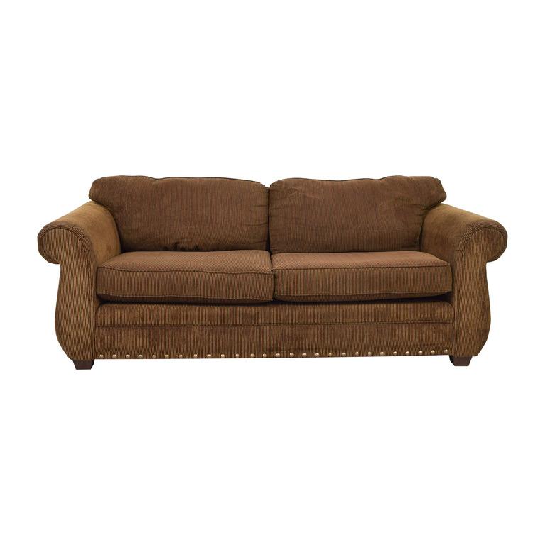 ABC Carpet & Home ABC Carpet & Home Brown Two-Cushion Sofa for sale