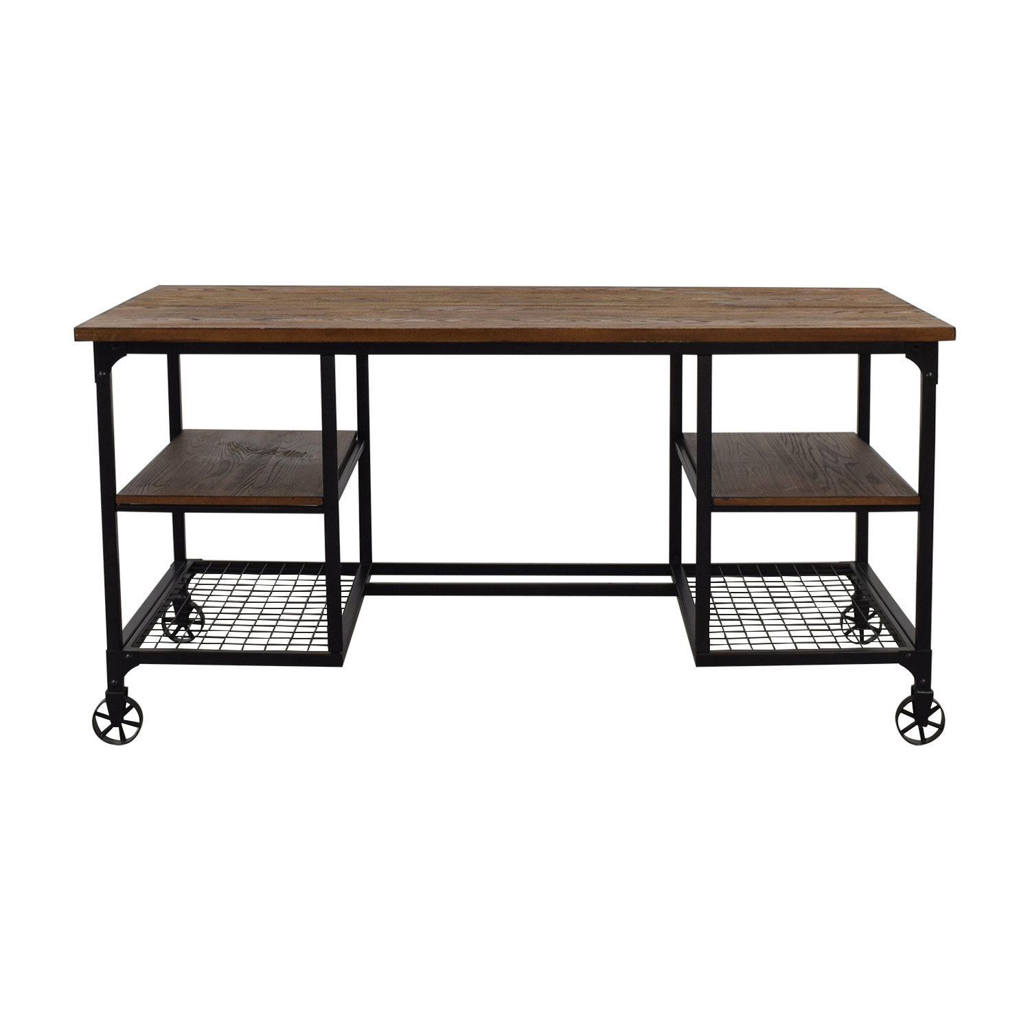 Inspire Classic Industrial Modern Rustic Storage Desk / Tables