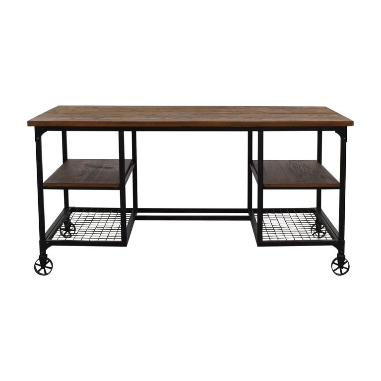 64 Off Inspire Q Clic Modern Rustic Storage Desk Tables