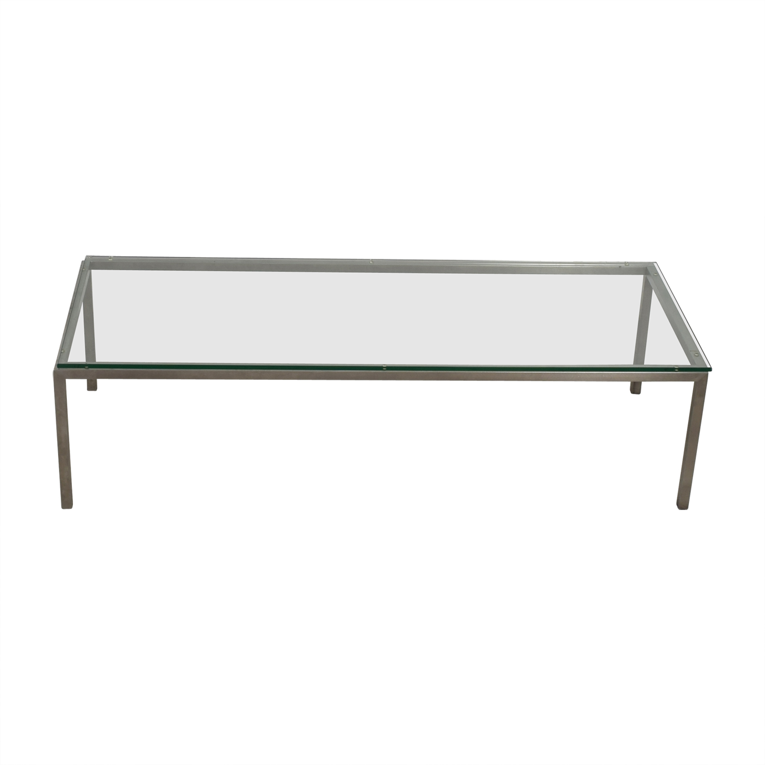 Room & Board Room & Board Portica Glass & Chrome Cocktail Table used