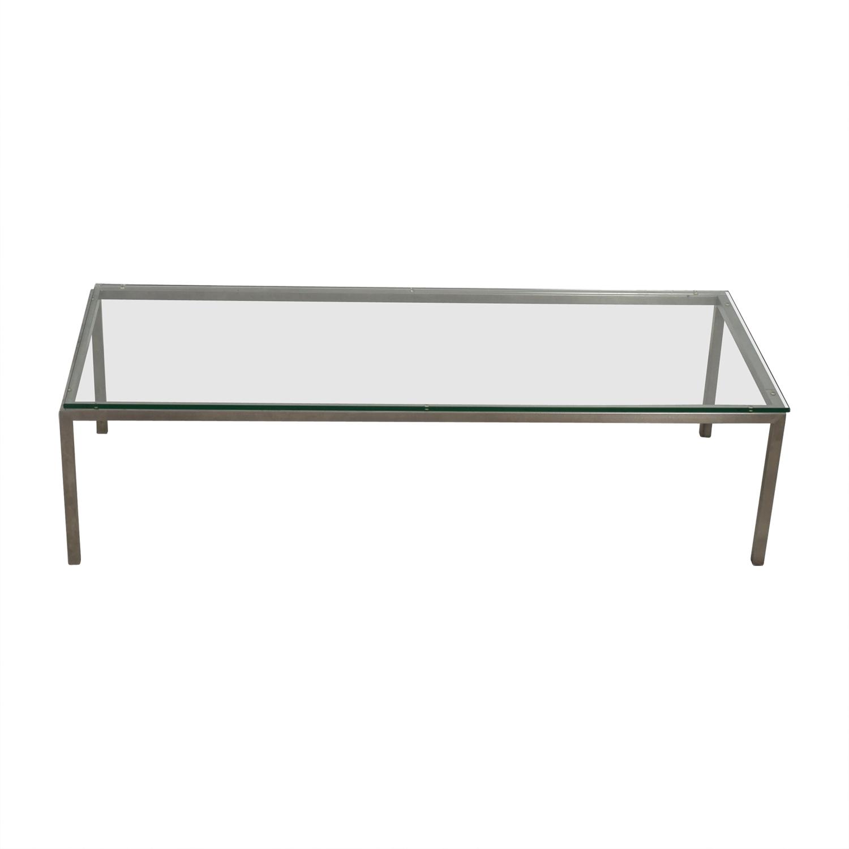 Room & Board Room & Board Portica Glass & Chrome Cocktail Table nj