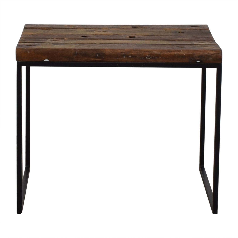 ABC Carpet & Home ABC Carpet & Home Elliot Rustic Wood End Table End Tables