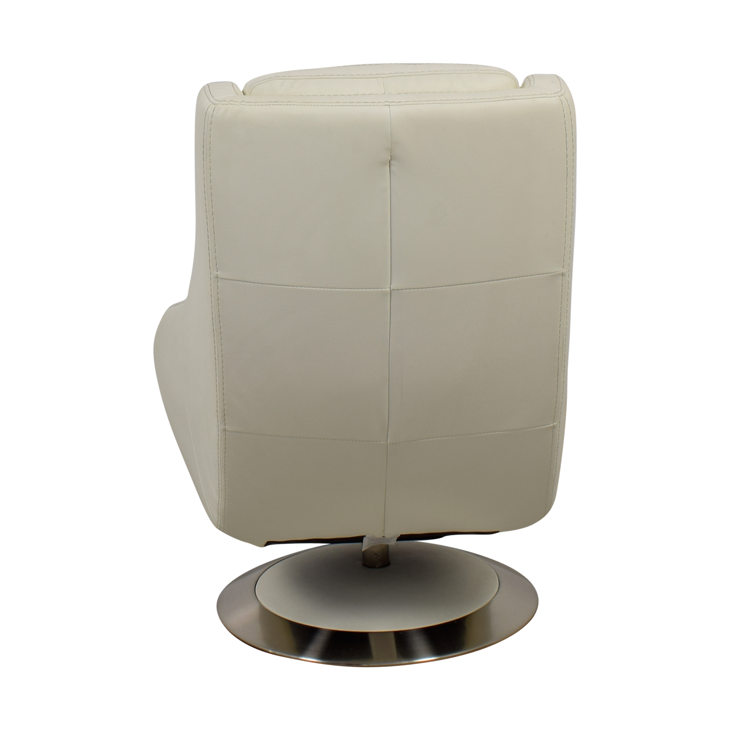 buy Design Within Reach White Leather Swivel Chair Design Within Reach