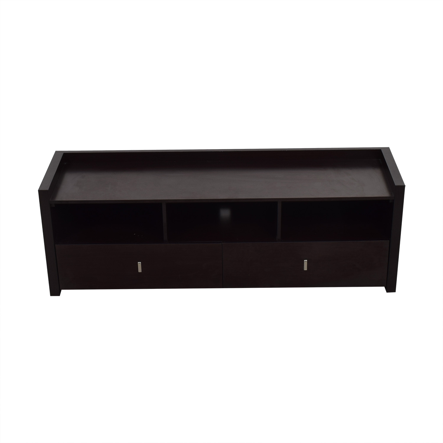 Two-Drawer Wood Media Stand second hand