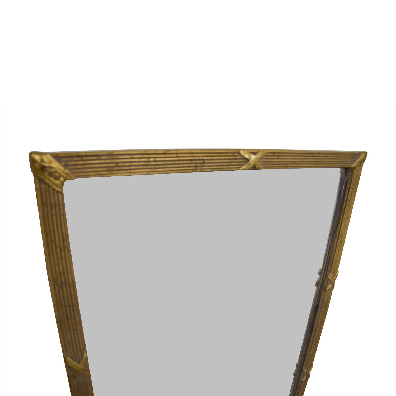 84% OFF - Vintage Gold Framed Mirror / Decor