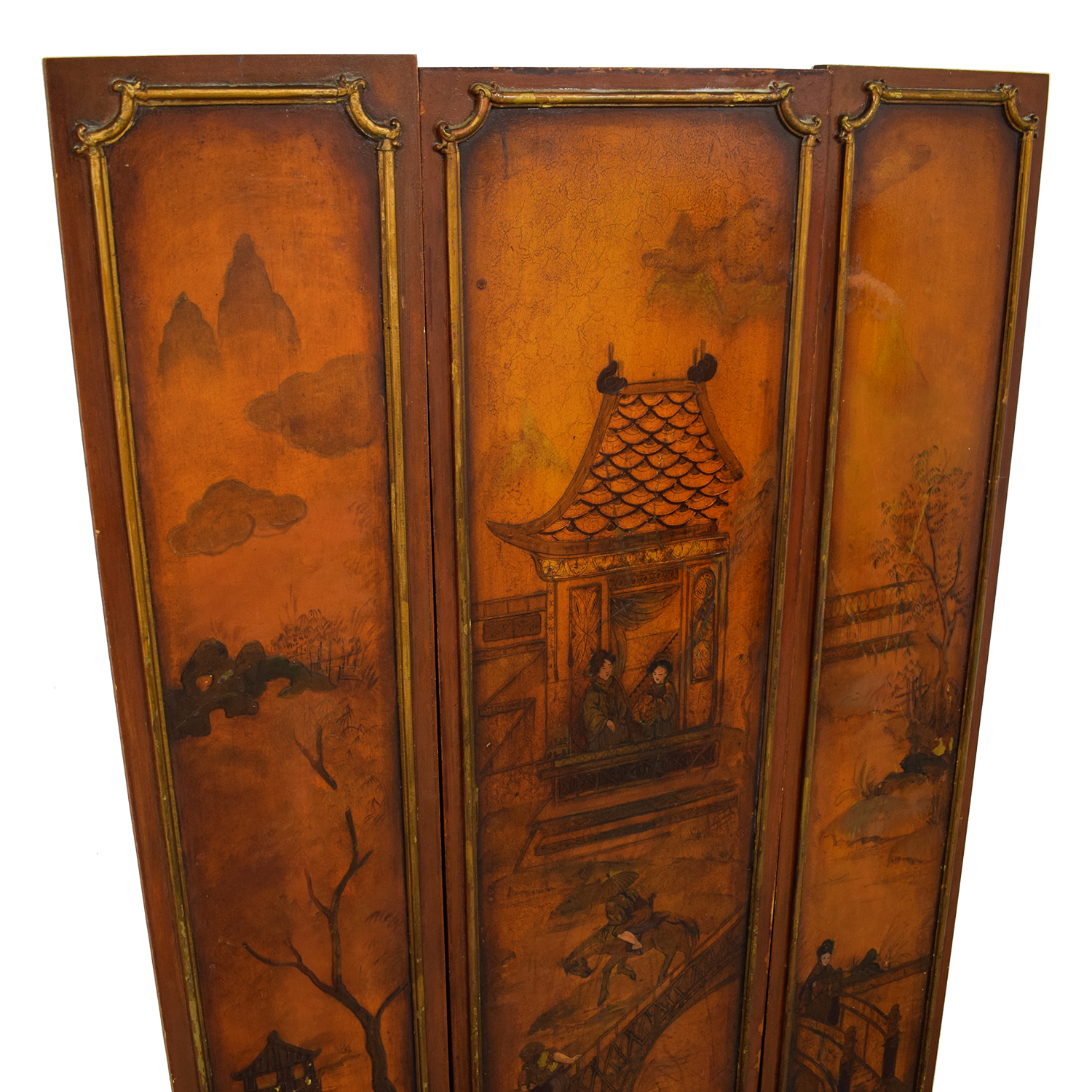 Vintage Chinese Paneled Wall Hanging for sale