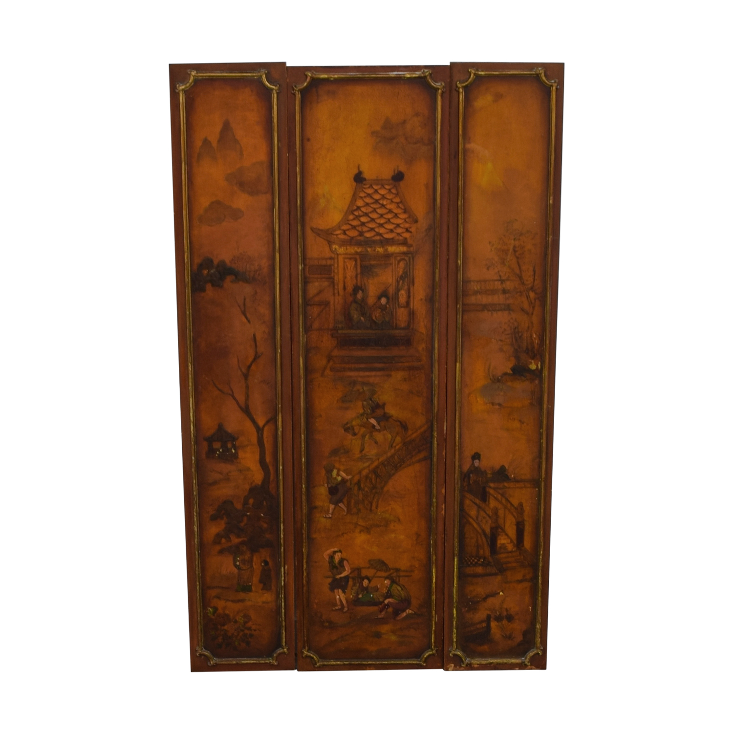Vintage Chinese Paneled Wall Hanging nyc