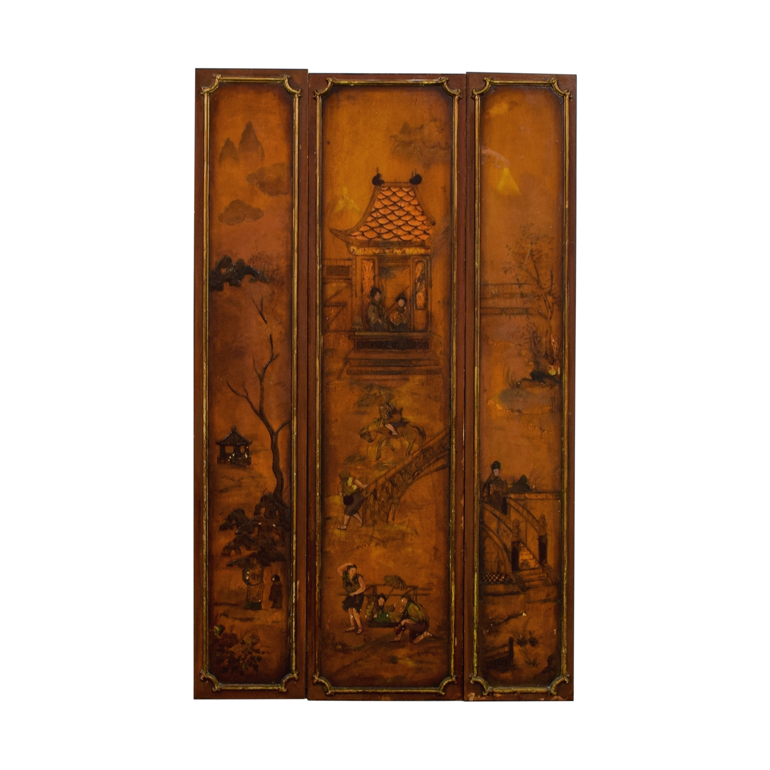Vintage Chinese Paneled Wall Hanging price