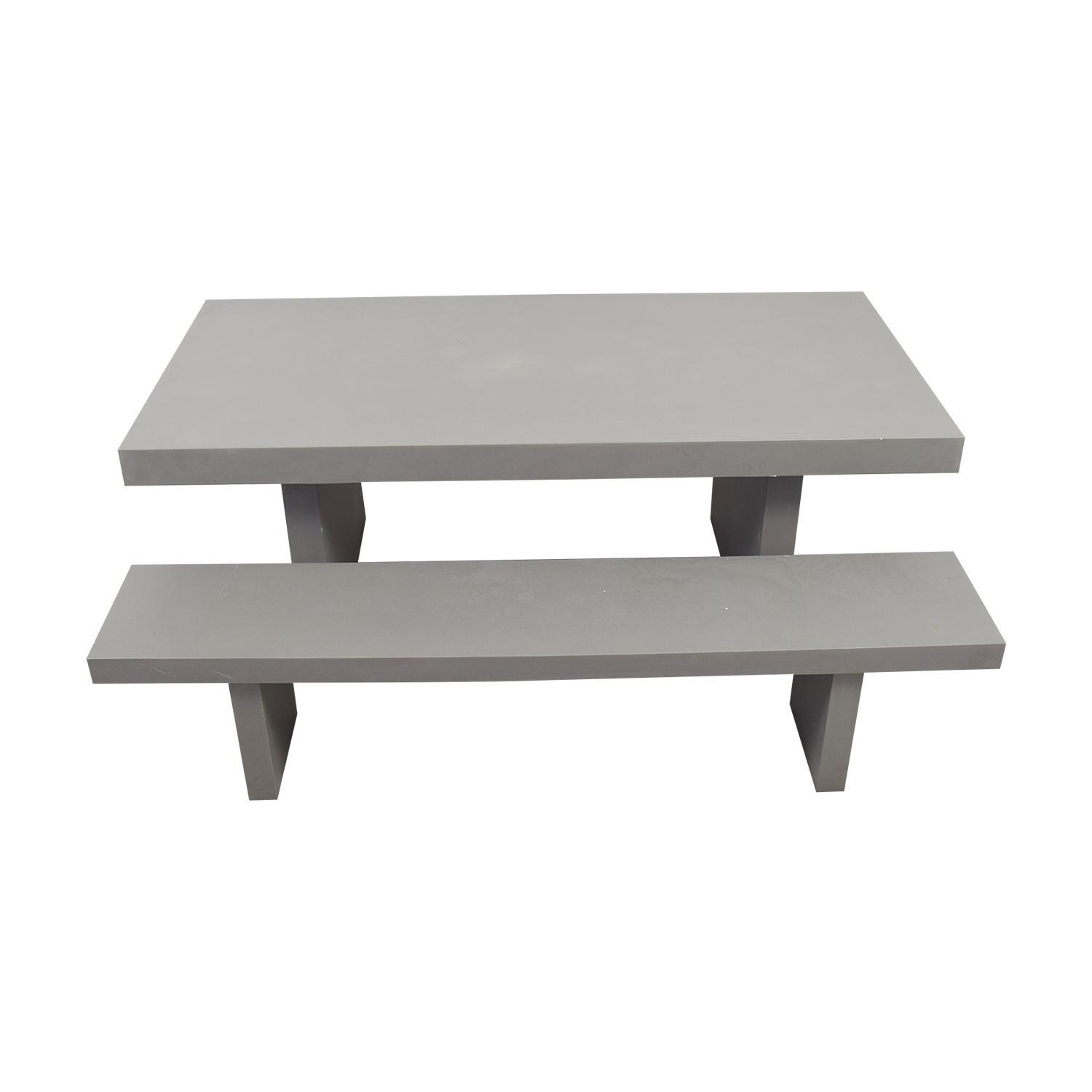 West Elm West Elm Quarry Gray Rectangle Dining Table and Benches Sofas
