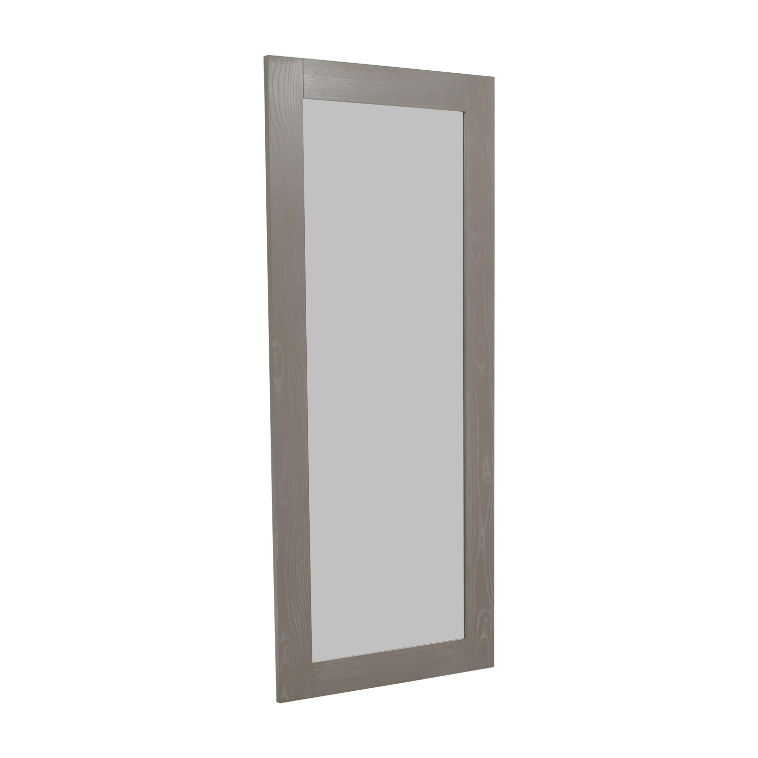 CB2 CB2 Grey Hanging/Leaning Floor Mirror nj