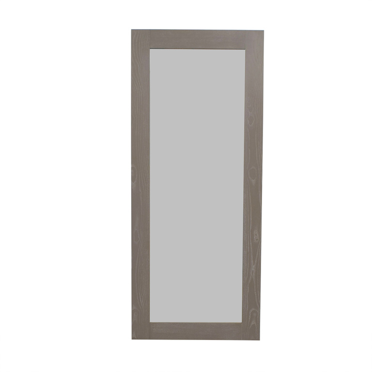 CB2 CB2 Grey Hanging/Leaning Floor Mirror for sale