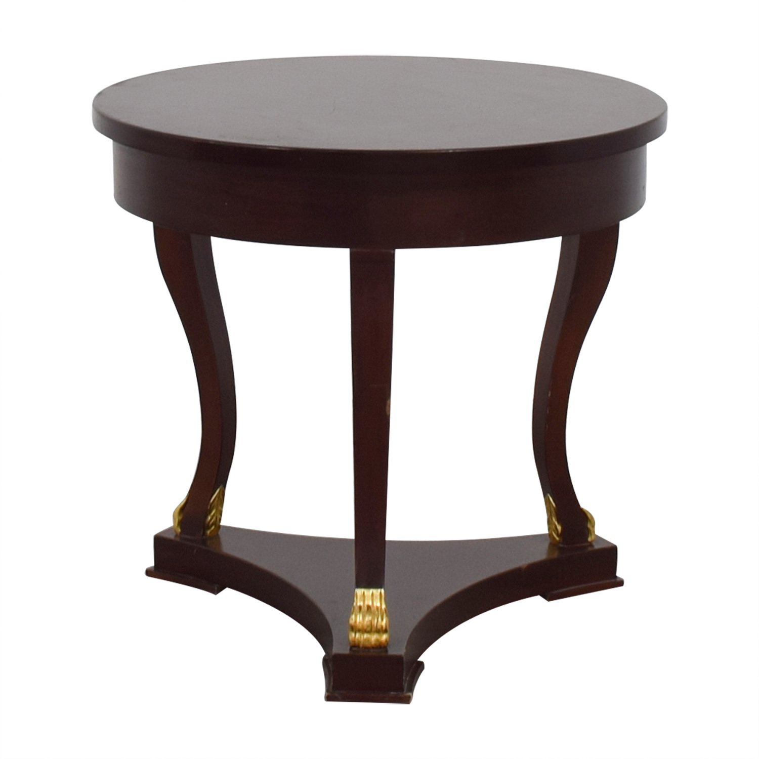 Round Mahogany End Table discount