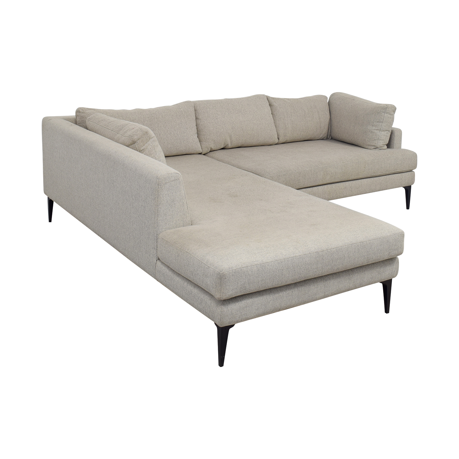 West Elm West Elm Beige Chaise Sectional price