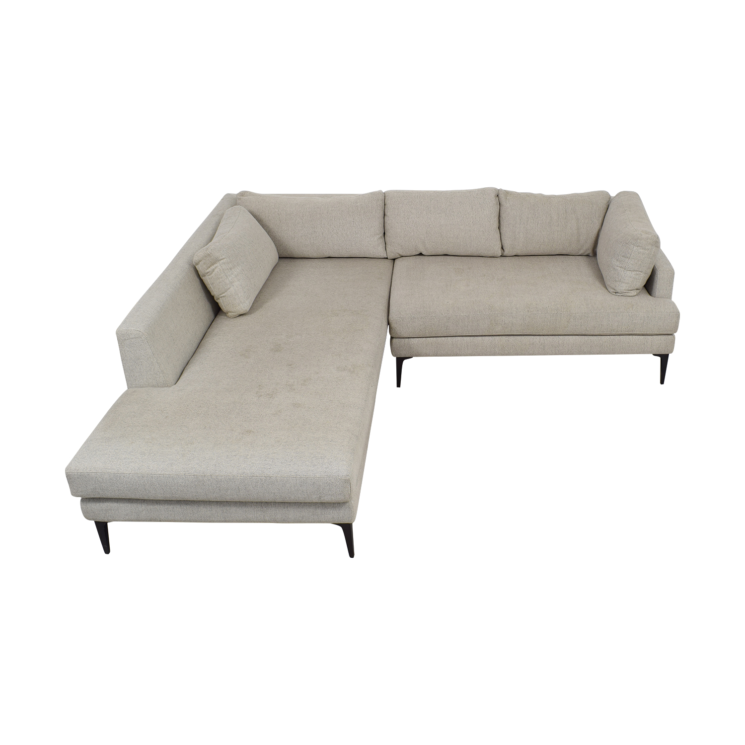 buy West Elm West Elm Beige Chaise Sectional online