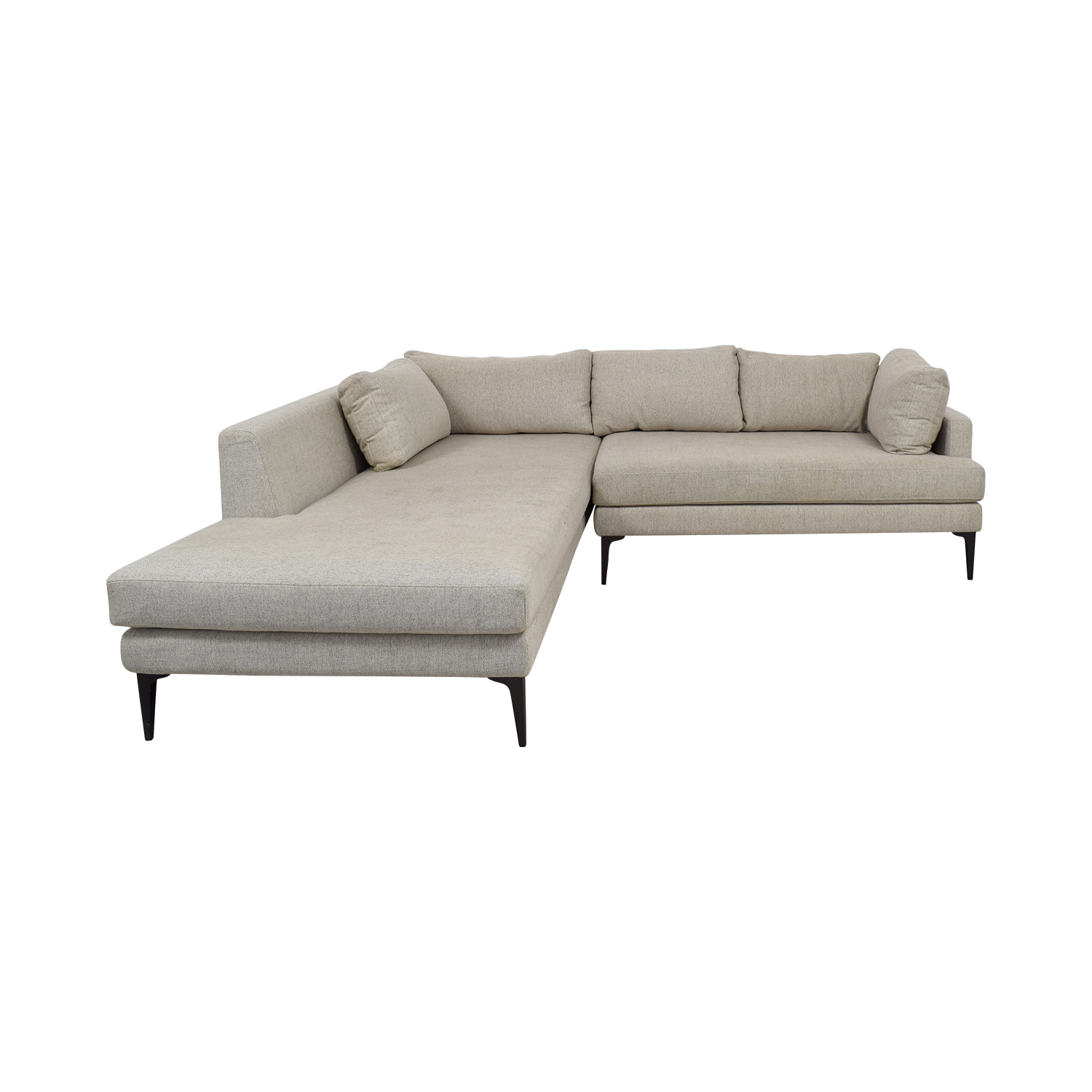 West Elm West Elm Beige Chaise Sectional on sale