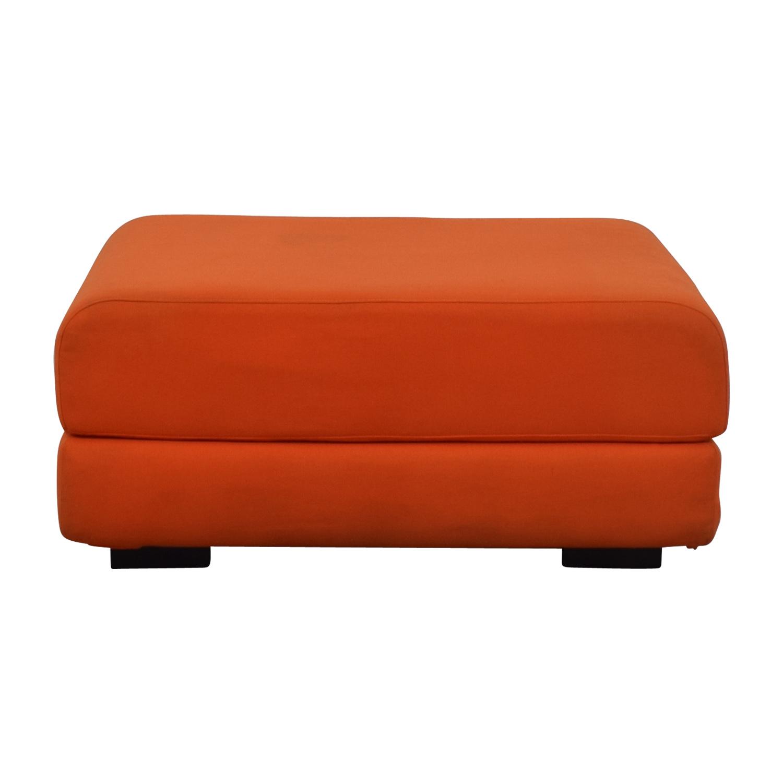 CB2 CB2 Max Orange Ottoman