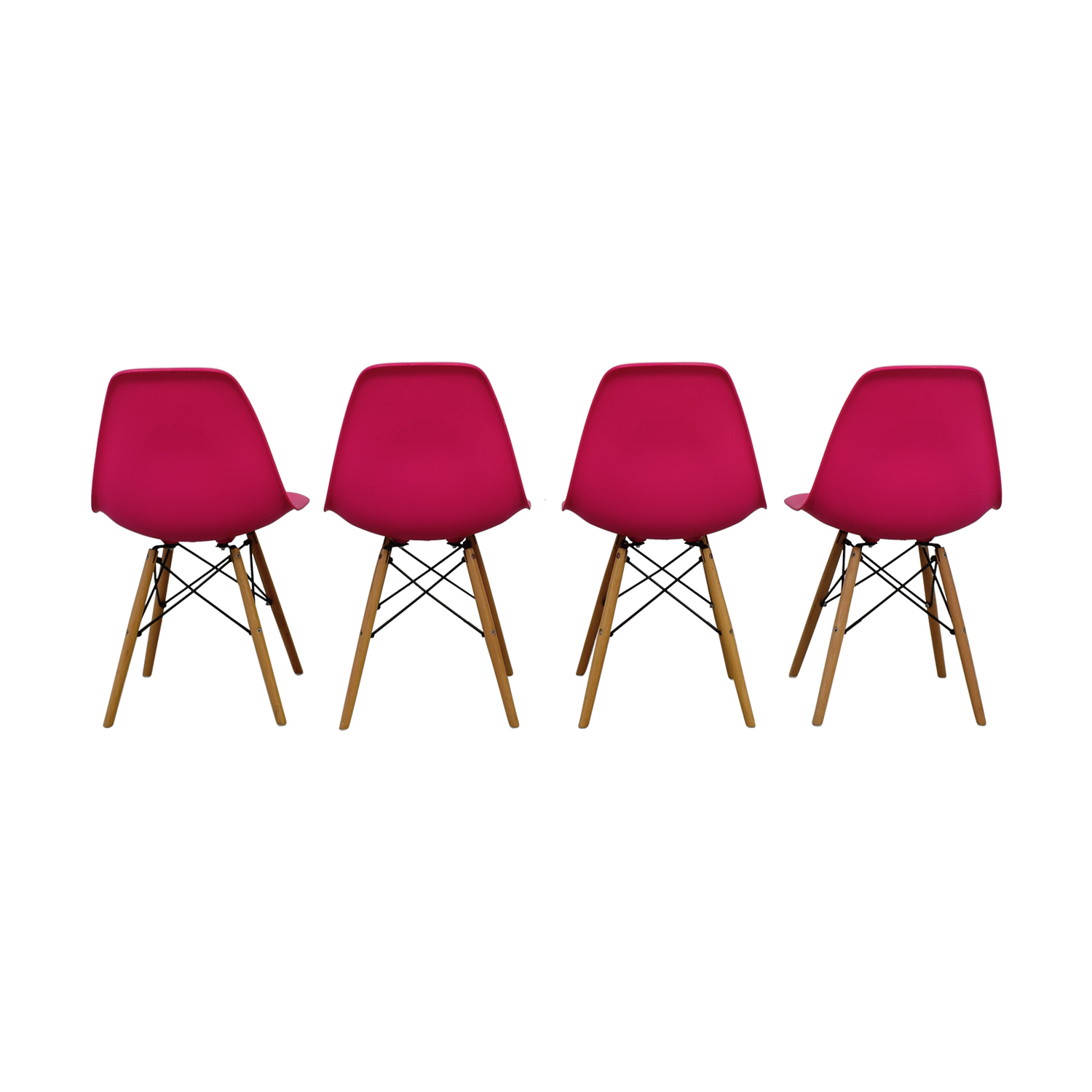 Mid-Century Hot Pink Dining Chairs dimensions