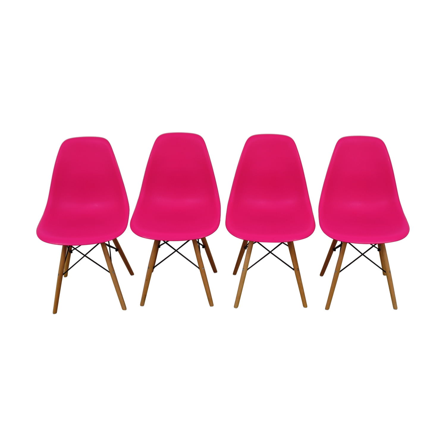 OFF Mid Century Hot Pink Dining Chairs Chairs