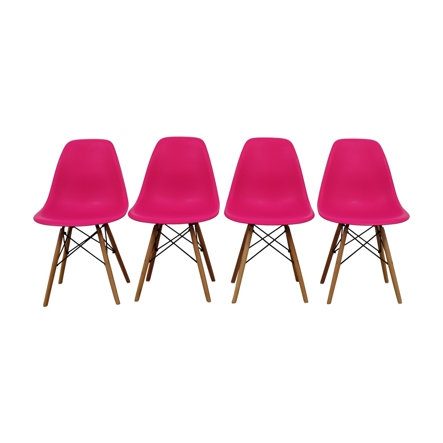 Mid-Century Hot Pink Dining Chairs price
