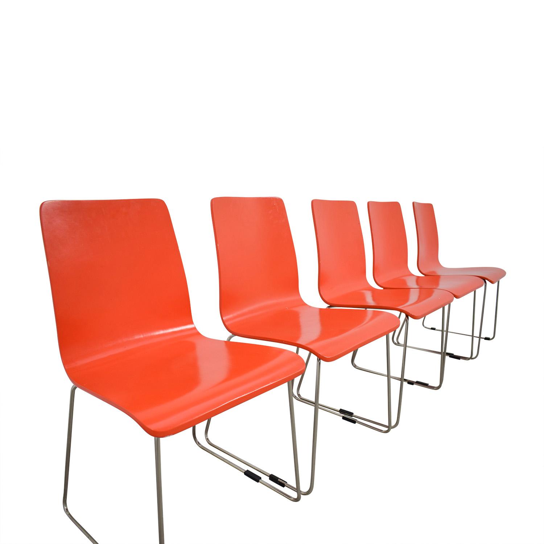 CB2 Echo Orange Dining Chairs sale