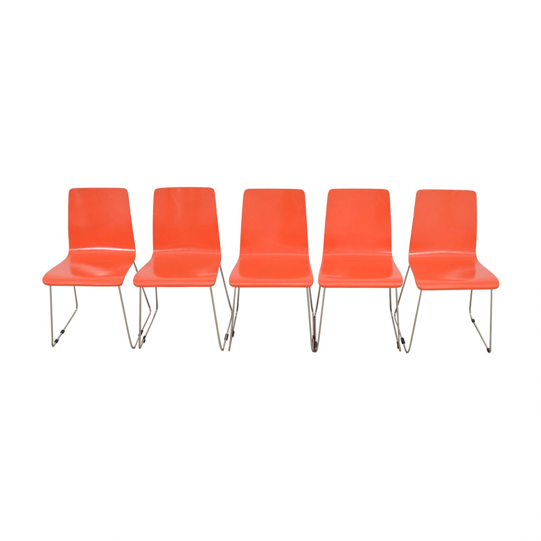 CB2 CB2 Echo Orange Dining Chairs second hand