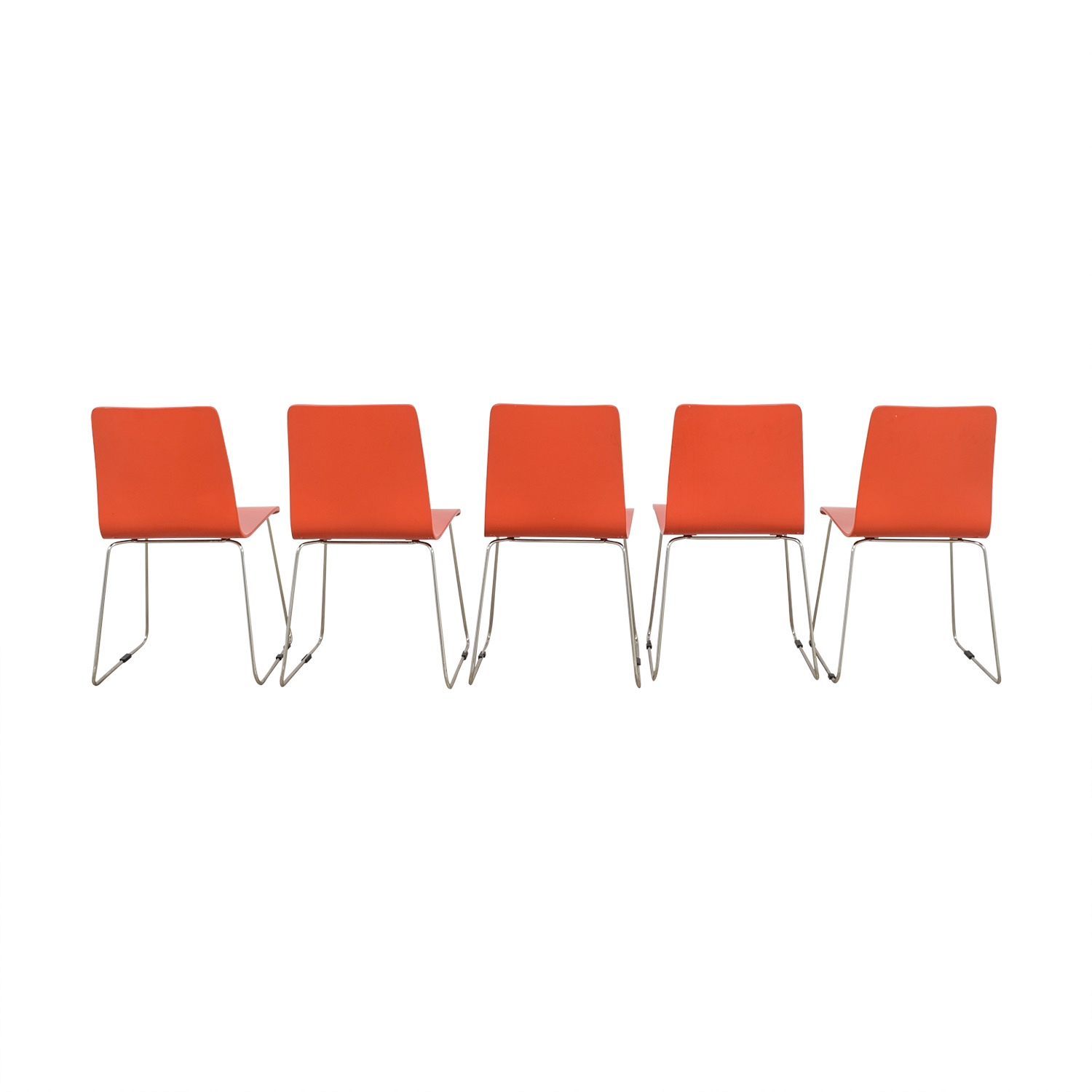 CB2 Echo Orange Dining Chairs / Dining Chairs