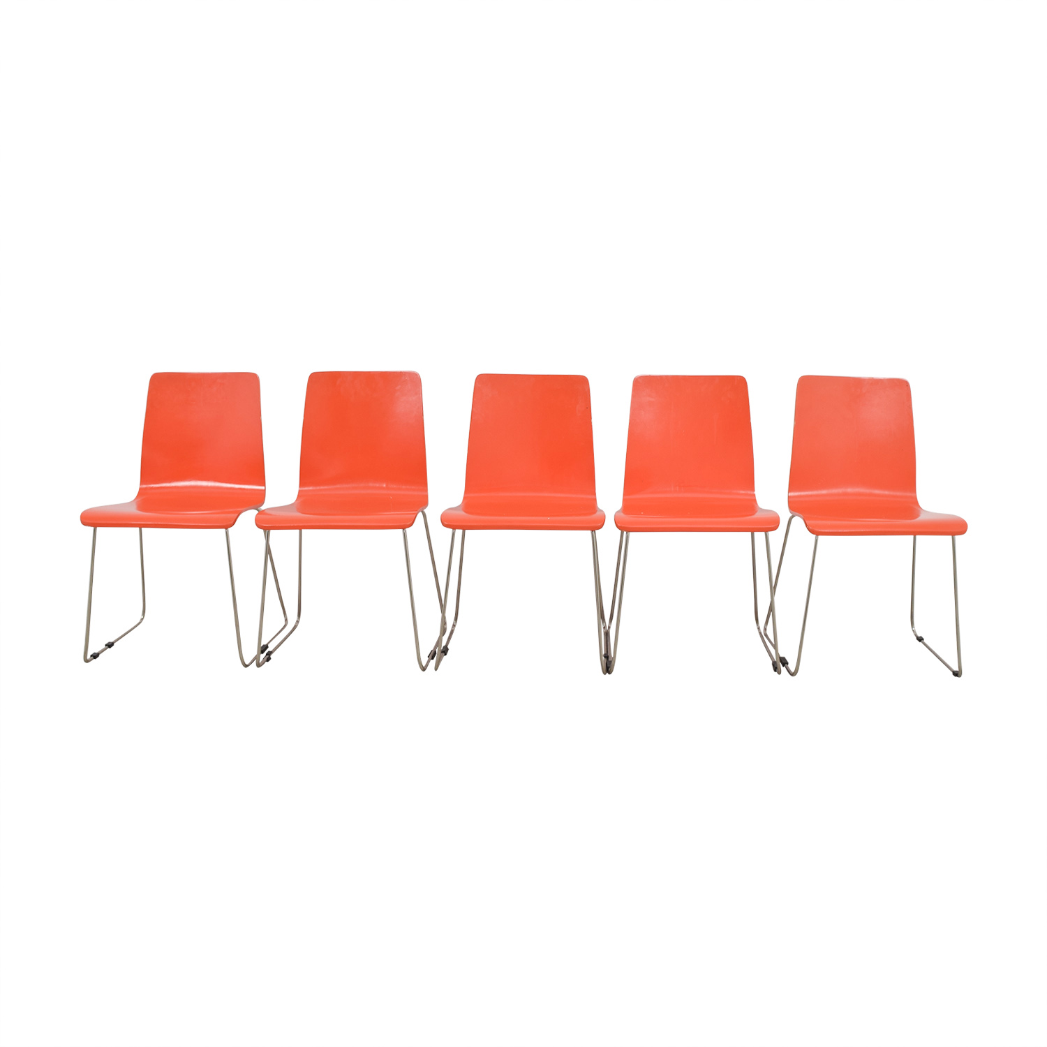 CB2 CB2 Echo Orange Dining Chairs on sale