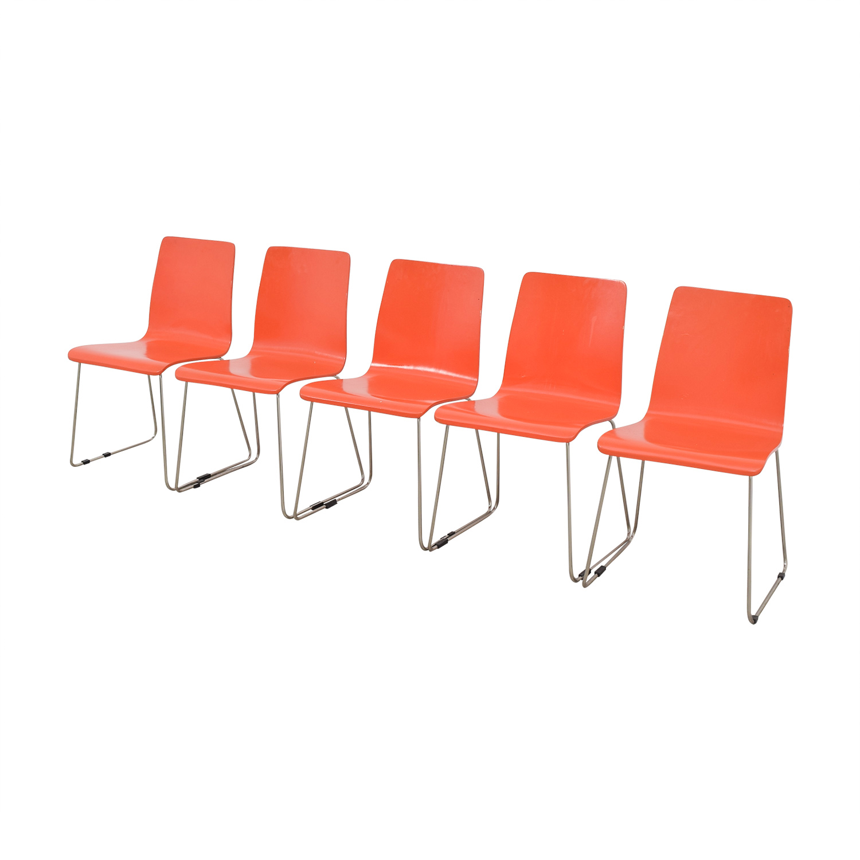 CB2 CB2 Echo Orange Dining Chairs price