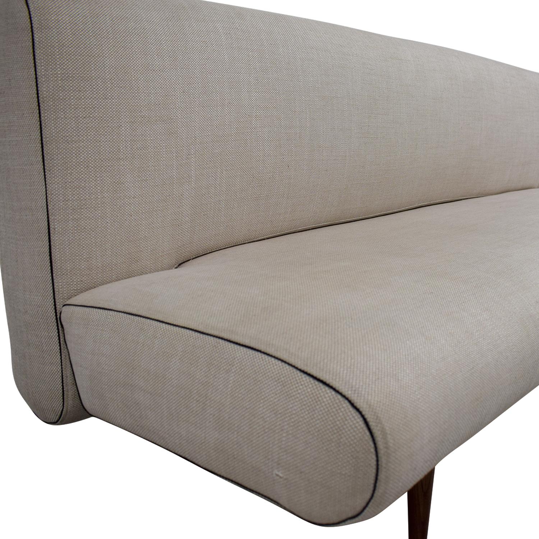 ... Buy Mid Century Beige Tweed Unfurl Sleeper Sofa Online ...