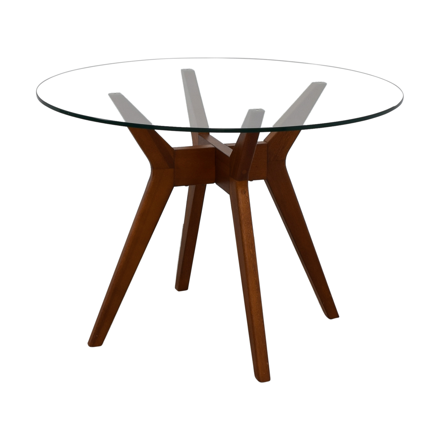 68 Off West Elm West Elm Jensen Round Glass Dining